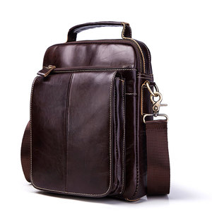 Darhope Factory supplies Oem Fashion High-end new leather vertical style square business multi-color men shoulder bag