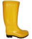 Yellow Safety PVC plastic watetproof gumboots rain boots with steel toe cap and steel shank