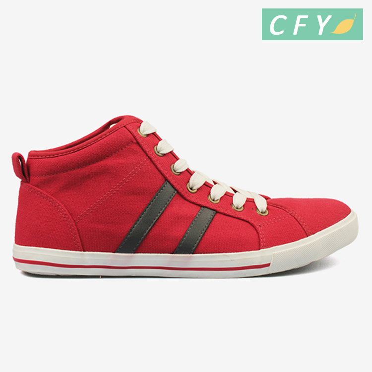 2018 new products red color high quality casual style canvas shoes formal school fashion best price custom logo shoes
