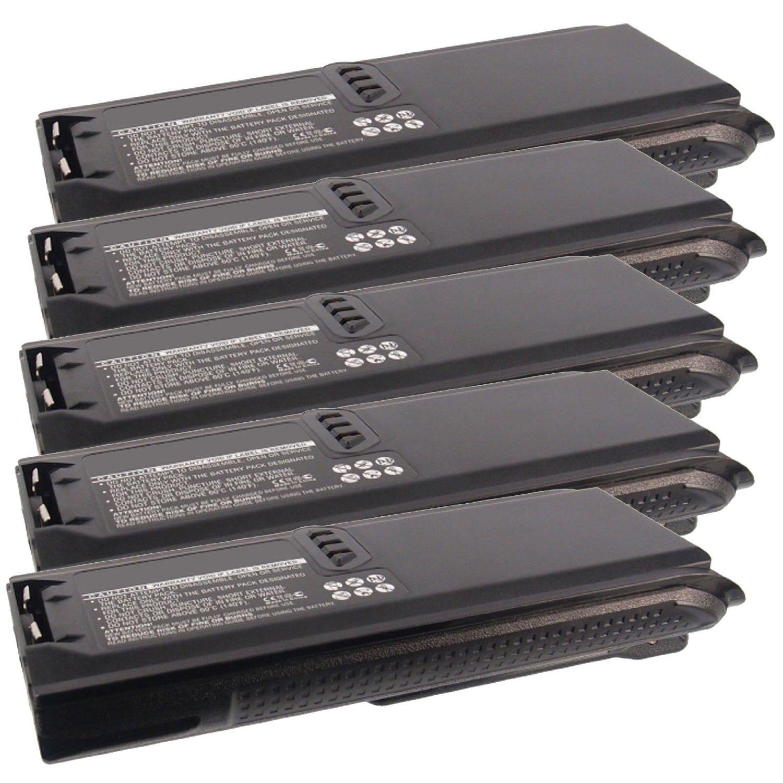 5x Exell 7.5V 2000mAh Ni-MH FRS 2way Radio Battery Fits Motorola NNTN4435, NNTN4435B, Tetra MTP200, MTP300, XTS3000, XTS3500, XTS4250, For Wireless, Portable, Two Way, Walkie Talkie, Communications