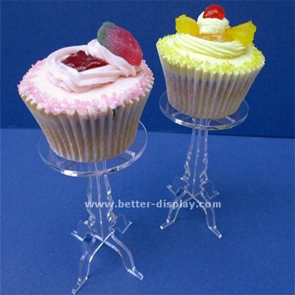 wholesale acrylic plastic single mini cake stand