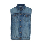 Custom Mens Denim Vest Wholesale/Jean Vest for Men Wholesale/Cowboy Vest Pattern