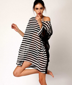 A3008X Sexy women dresses black and white stripe party dress summer beach wear fashion women apparel clothing