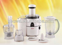 natural white color electric commercial food processor with juicer blender and stainless steel juicer spout KD-383C