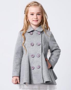 f6854289d4e92 2016 Wholesale Children Woolen Clothing Kids Winter Coat For Girls ...