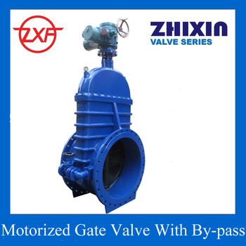 Motor operated gate valve dn1000 40 inch pn10 with bypass for How motor operated valve works