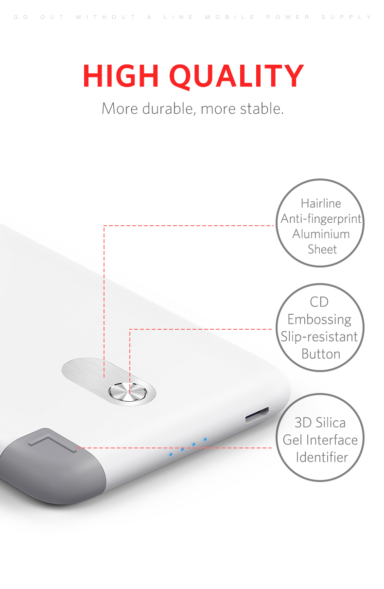 Yoobao S10K Powerbank 10000mAh Power Bank with Built-in Cable Dual USB Input External Battery Ultra Thin Portable Charger for
