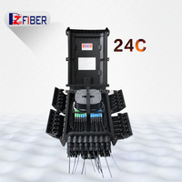 Outdoor Customized FTTH 24 Cores Black FDB Fiber Optic Distribution Box
