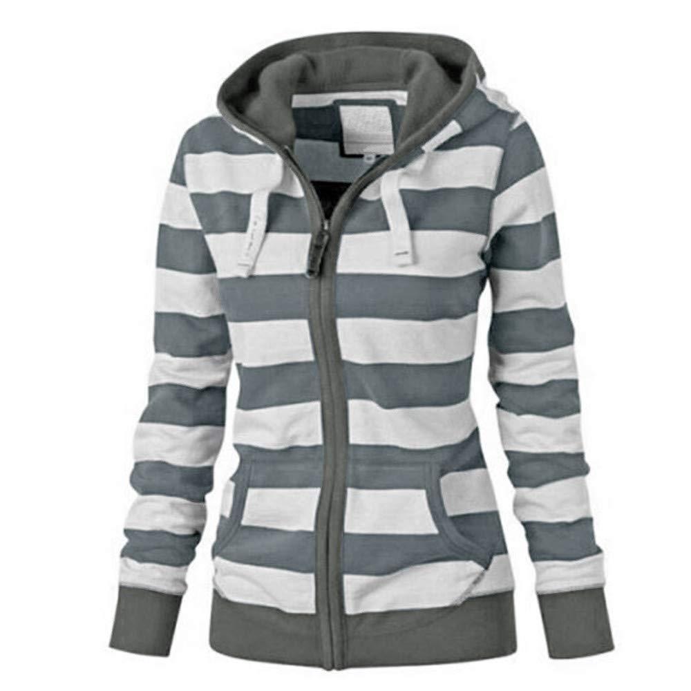 NRUTUP Tops for Women, Women Ladies Zipper Tops Hoodie Hooded Sweatshirt Coat Jacket Casual Slim Jumper
