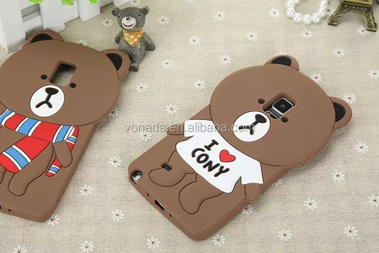 Cute 3d Cartoon Silicone Case For Samsung Galaxy Note 4