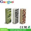Guoguo rechargeable Water transfer printing mini Leather 1800mAh portable power bank battery power pack for iphone