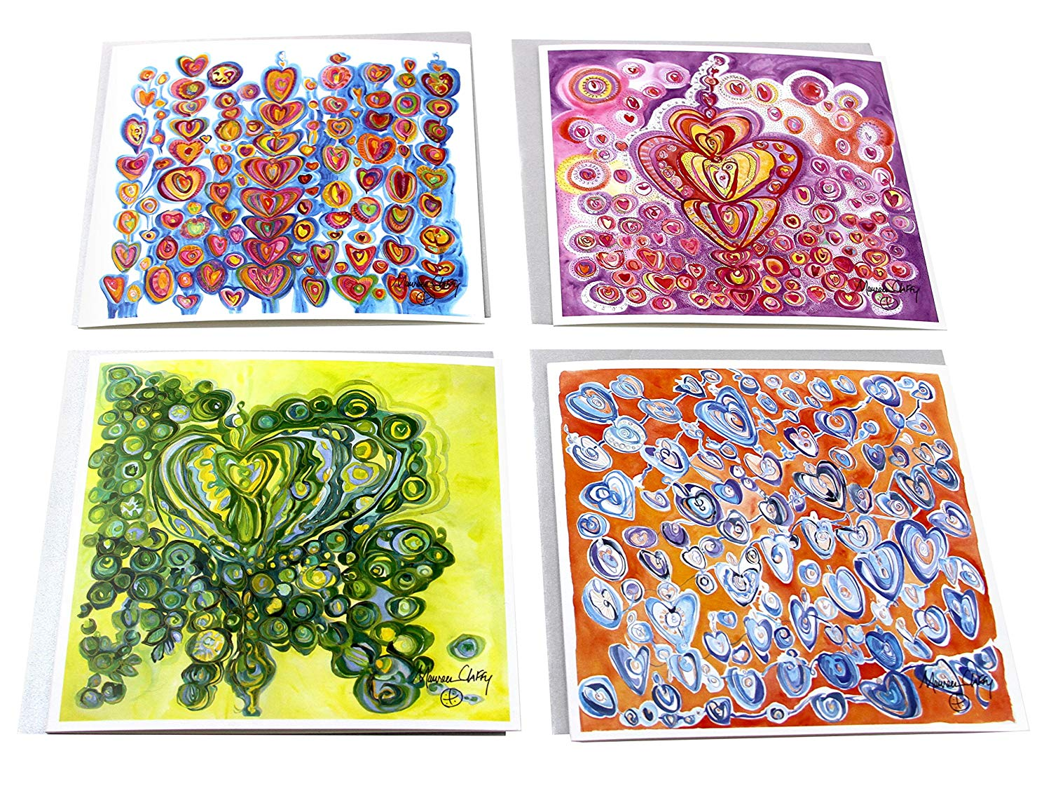 Blank Note Cards Sending You Love Notes by Maureen Claffy - The Compassion Collection