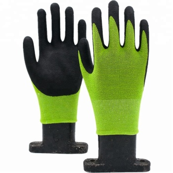 GLOVEMAN 13Gauge nylon spandex liner with Nitrile foam coated palm garden safety work gloves