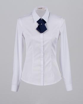 Beste Groothandel Mode Dames Wit Shirt Kantoor Uniform Ontwerpen Voor EB-61
