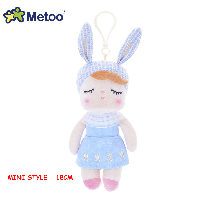 Metoo Kawaii Плюшевые игрушки с мультяшными животными для девочек, детский подарок на день рождения, рождественский подарок, кукла Анжела, кролик...(Китай)