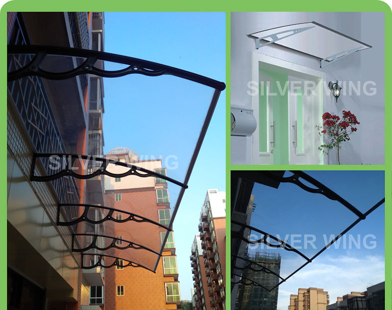 Modern Polycarbonate canopy with Stainless steel or aluminum canopy bracket for door & Modern Polycarbonate Canopy With Stainless Steel Or Aluminum ...