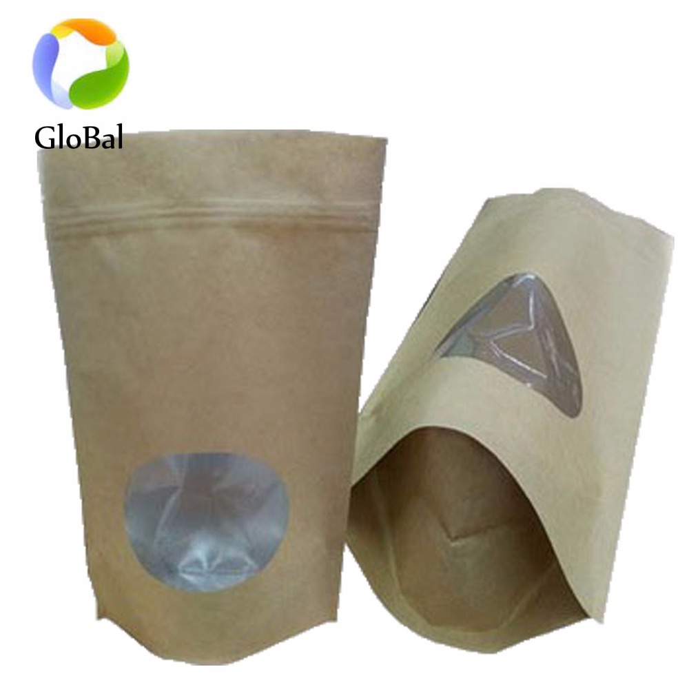 wholesale china suppliers printed Stand up ziplock kraft paper aluminum foil bag with own logo