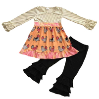 2017Wholesale giving days baby clothes sets girls boutique clothing turkey partten children clothes