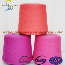100% bright polyester staple fiber made reliance polyester yarn 45/2
