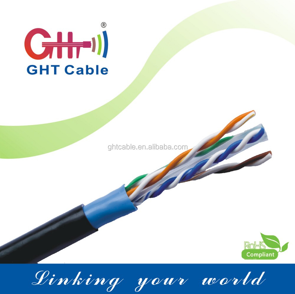 Computer wires and cables UTP cat 6 24awg outdoor cat6 lan cable 305m