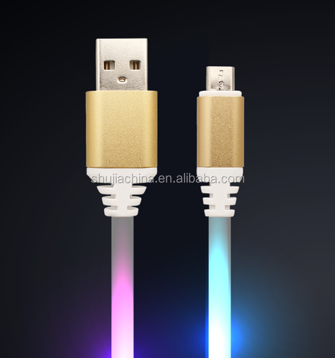 Rock Led Micro Usb Cable 2.4a Fast Data Sync Charging Cord For Samsung Huawei Xiaomi Andriod Usb Microusb Mobile Phone Cables Skillful Manufacture Mobile Phone Accessories