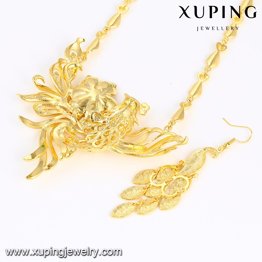 Wholesale fashion jewellery african gold necklace wedding jewelry set, african jewelry sets
