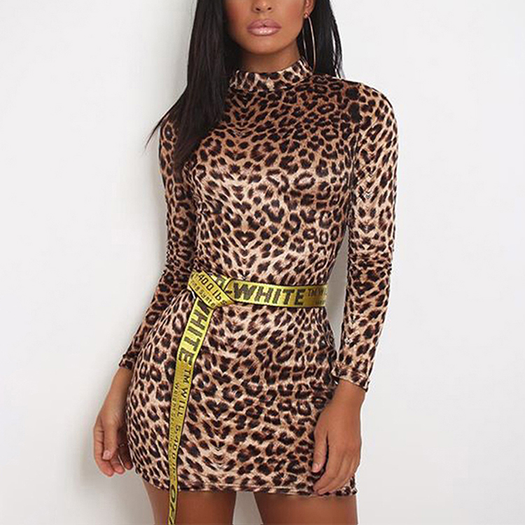 2019 Popular New Listing Leopard Print Women Mini Sexy Bodycon <strong>Dress</strong>
