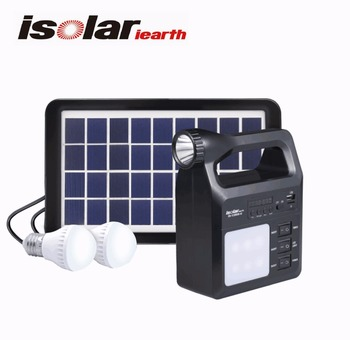 IS 1388S Mini Solar Flashlight Portable Light Kit Radio And MP3 Player With