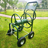 Portable Four Wheel Watering Stainless Steel Garden hose reel cart