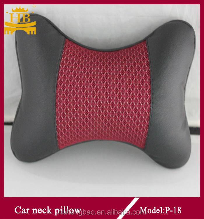 ice silk +leather comfortable car neck pillow