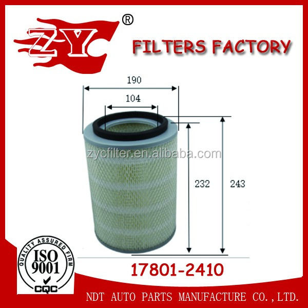 17801-2410 Hino heavy truck air filter