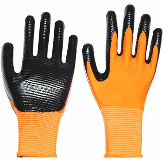 New Wholesale environmental seamless knitted nylon nitrile glove