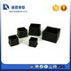Rubber Square Shaped Furniture Foot Cover Protector Pad Black