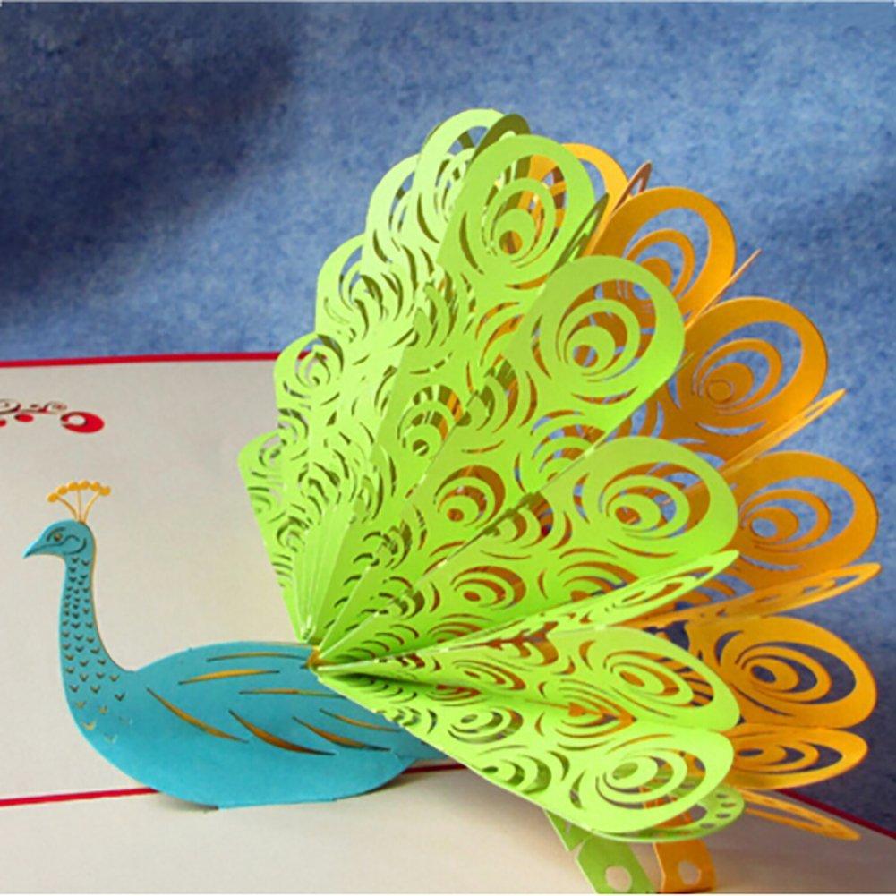 как сделать открытку павлина из бумаги всего стулья