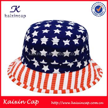 Custom Cotton Twill Hat American or Italy Flag Print Pattern Cool Bucket  Hats Bulk 6cc752d8da2
