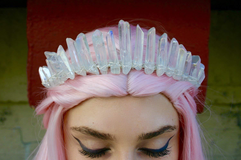 Angel Aura Crystal Quartz Crown Tiara Mermaid crown