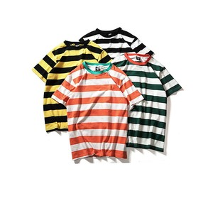 Colorful Wide Stripe Wholesale Striped T-Shirt