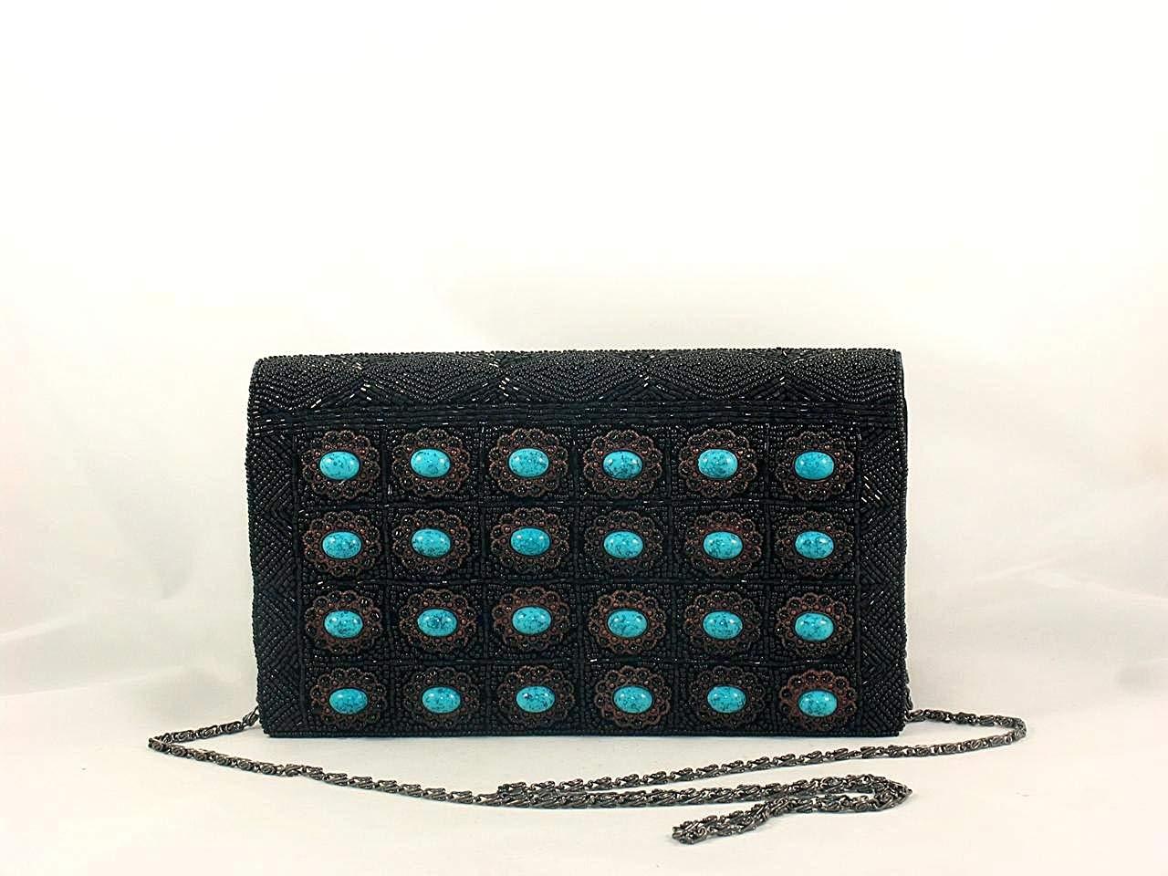 995d1dbf5b Get Quotations · WF86-55 Beaded Handmade Evening Handbag Bag Purse Handbag  Velvet Material