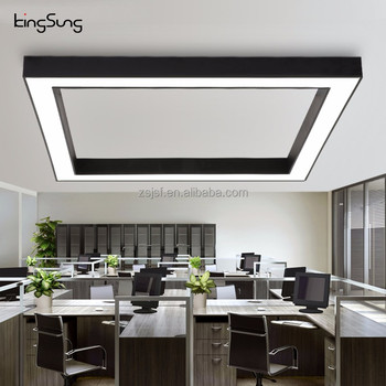 Attrayant Square 48W Modern Aluminium Strip Led Office Hanging Light Office Pendant  Light