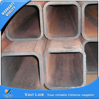 Certificated galvanised steel rectangle pipes for wholesales