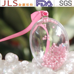 fashion clear plastic egg shaped container
