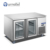 FURNOTEL 417L Bar Refrigerator Commercial 3 Glass Doors Under Counter Beer Fridge