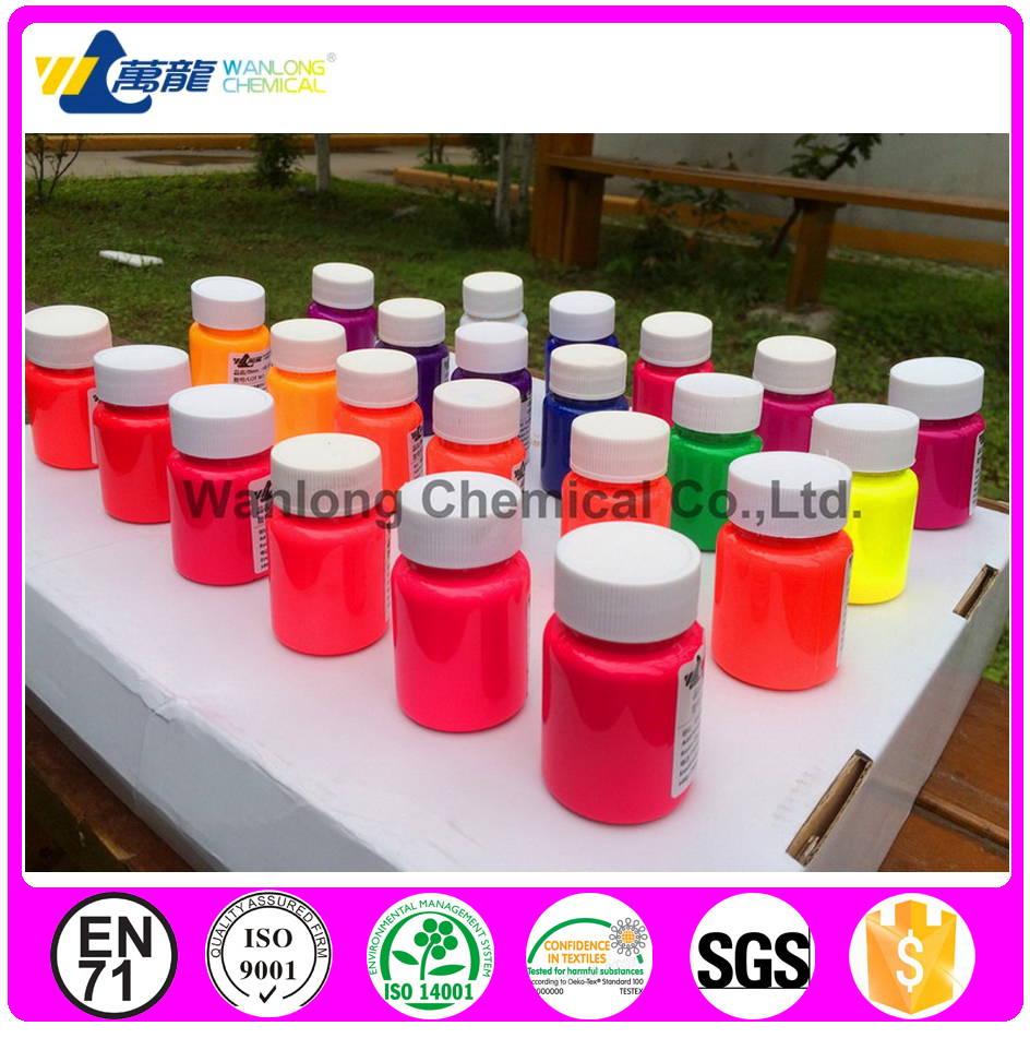 Fluorescent printing ink fluorescent dyes for textile printing and dyeing