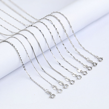 Wholesale Jewelry Fashion Simple Design Custom Chain 925 Sterling Silver Necklace