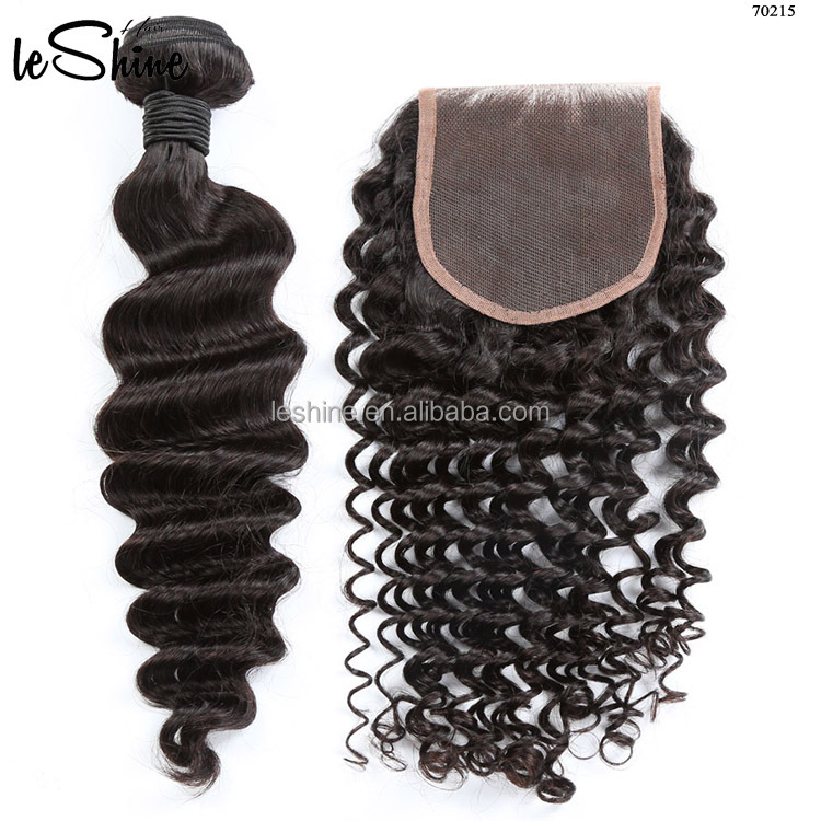 Deep Curly With Lace Frontal Wholesale Virgin Indian Hair Weave