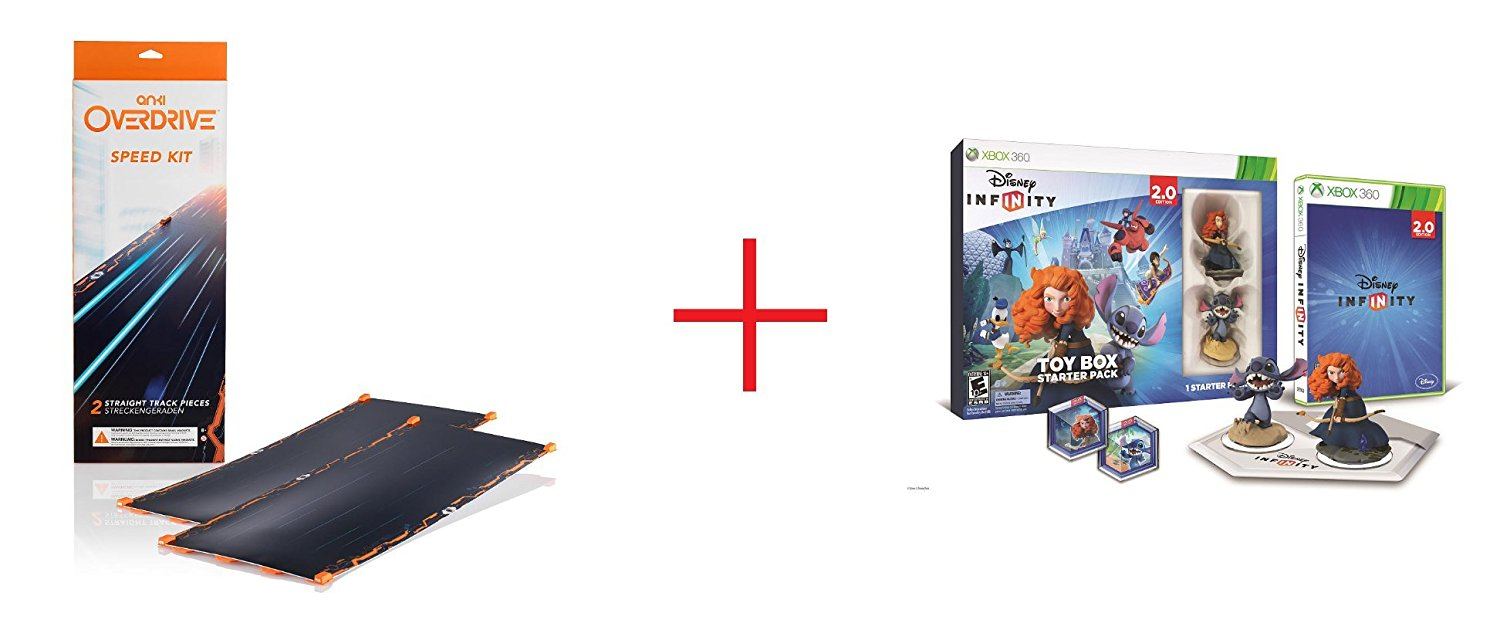 Anki OVERDRIVE Expansion Track Speed Kit and Disney Infinity (2.0 Edition) Toy Box Starter Pack featuring Disney Originals for Xbox 360 - Bundle