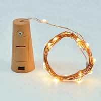2018 Most Popular 2M 20Leds Warm White Cr2032 Battery Operated Led Cork Wine Bottle Fairy Light For Decorate