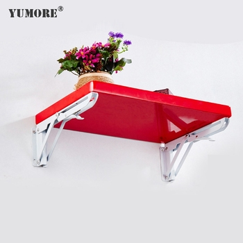 Hot Selling Stainless steel decorative 90 degree corner L hanging folding board angle metal shelf wall mounting bracket