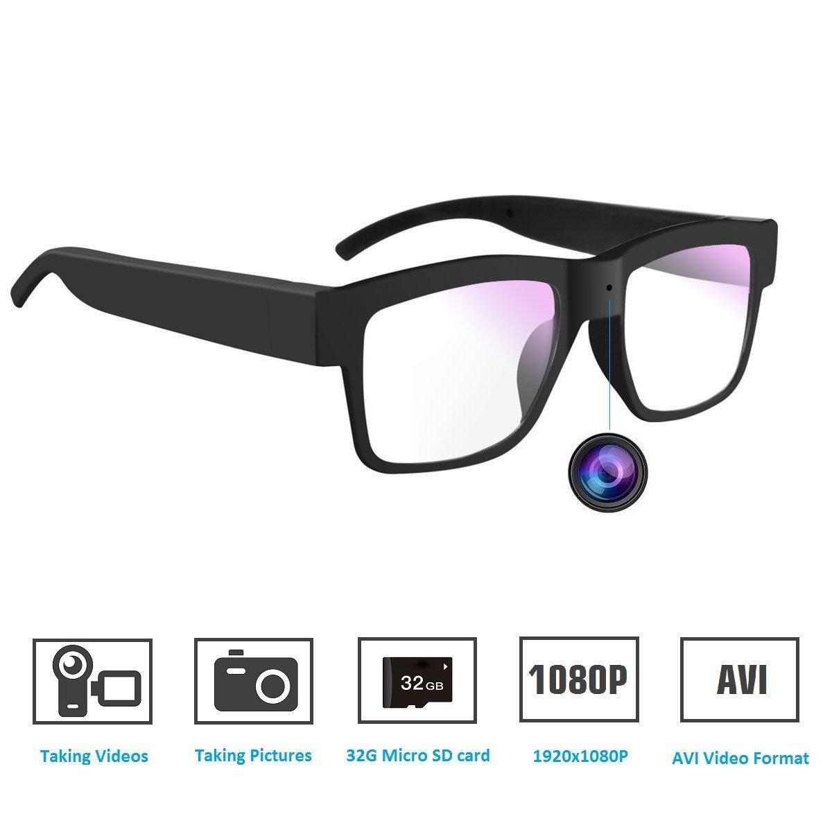4d0df4094b2 Camera Glasses,SENLUO Hidden Glasses Camera HD 1080P Mini DV Camcorder  Video Recorder