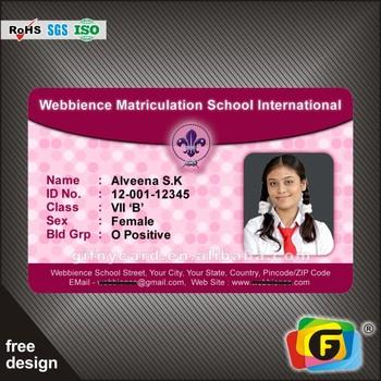 Identity card sample.